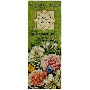 Гель для душа Белые цветы, 250мл - L`Erbolario Bagnoschiuma Fiori Chiari
