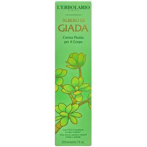 Крем для тела Нефритовый цветок, 200мл - L`Erbolario Crema Fluida per il Corpo Albero di Giada