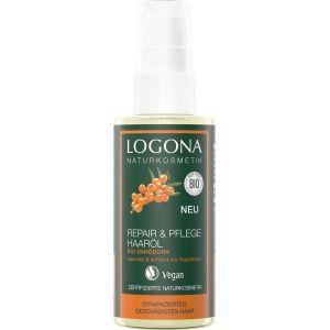 Био-масло реконструктор волос Облепиха, 150мл - Logona Repair & Care Hair Oil Organic Sea Buckthorn