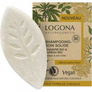 Био-шампунь твердый Конопля и бузина, 60гр - Logona Organic Hemp & Elderberry Solid Shampoo