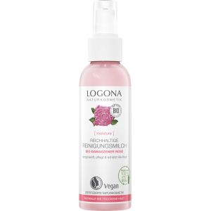 Био-молочко для сухой чувствительной кожи Роза, 125мл - Logona Moisture Rich Cleansing Milk Organic Damask Rose