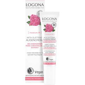Био-крем для кожи вокруг глаз Роза, 15мл - Logona Moisture Lift Active Smoothing Eye Cream