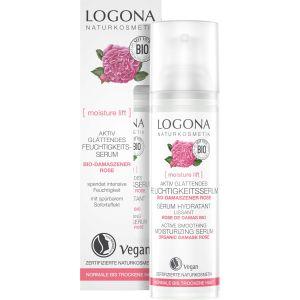 Био-сыворотка для сухой кожи Роза, 30мл - Logona Moisture Lift Active Smoothing Moisturizing Serum