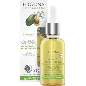 Био-масло питательное с Авокадо, 30мл - Logona Nourish Revitalizing Face Oil Avocado