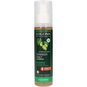 Био-спрей для блеска и моделирования волос, 150мл - Logona Silk Gloss Hair Spray Bio Hops