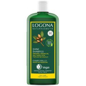 Био-шампунь для восстановления волос с Арганой, 250мл - Logona Hair Care Shine Shampoo Organic Argan Oil