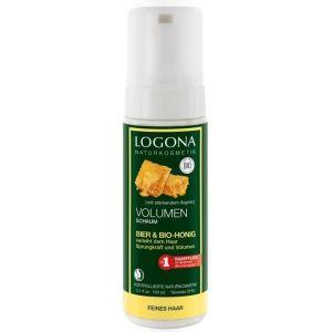 Био-пенка для объема волос Мед и пиво, 150мл - Logona Hair Care Volume Mousse Beer & Organic Honey