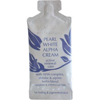 Крем Альфа жемчужный отбеливающий с АНА-кислотами пробник - Magiray Pearl White Alpha Cream Tester