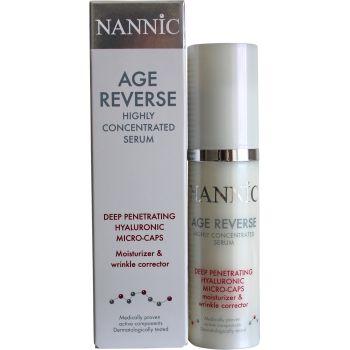 Сыворотка Гиалуроновая для лица Время вспять - Nannic Age Reverse Deep Renetrating Hyaluronic Micro-Caps