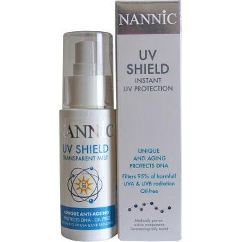 Спрей солнцезащитный гипоаллергенный с защитой ДНК кожи - Nannic UV Shield Instant UV Protection