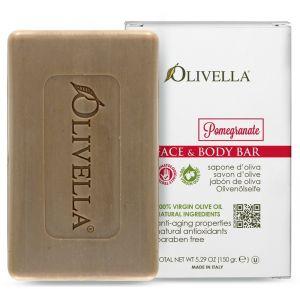 Мыло Гранат на основе оливкового масла, 150гр - Olivella Face & Body Bar Soap Pomegranate