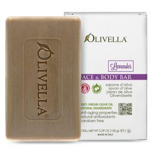 Мыло Лаванда на основе оливкового масла, 150гр - Olivella Face & Body Bar Soap Lavender
