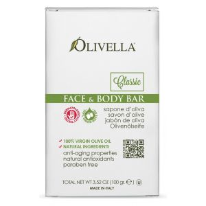 Мыло на основе оливкового масла, 100гр - Olivella Face & Body Bar Soap