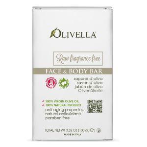 Мыло для чувствительной кожи на основе оливкового масла, 100гр - Olivella Face & Body Bar Soap Raw Fragrance Free
