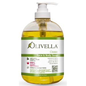 Жидкое мыло на основе оливкового масла, 300мл - Olivella Face & Body Liquid Soap Classic