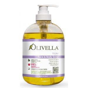 Жидкое мыло Фиалка на основе оливкового масла, 500мл - Olivella Face & Body Liquid Soap Violet