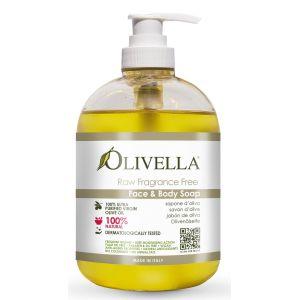 Жидкое мыло для чувствительной кожи, 500мл - Olivella Face & Body Liquid Soap Raw Fragrance Free