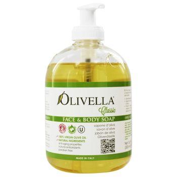 Жидкое мыло на основе оливкового масла, 500мл - Olivella Face & Body Soap Olive