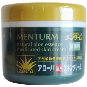 Крем c экстрактом алоэ, 185мл - Omi Brotherhood Menturm Natural Aloe Essence Medicated Skin Cream