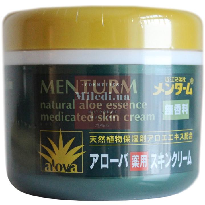 Крем увлажняющий c экстрактом алоэ «Ментурм» - Omi Brotherhood Menturm Natural Aloe Essence Medicated Skin Cream, 185мл