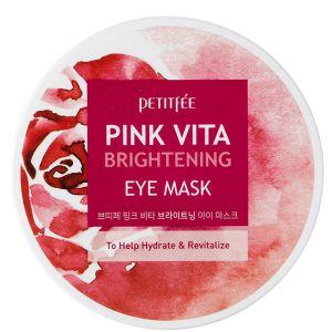 Патчи для глаз на основе эссенции розовой воды, 60шт - Petitfee Pink Vita Brightening Eye Mask