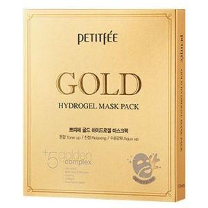 Гидрогелевая маска с золотым комплексом, 5шт - Petitfee Gold Hydrogel Mask Pack +5 Golden Complex