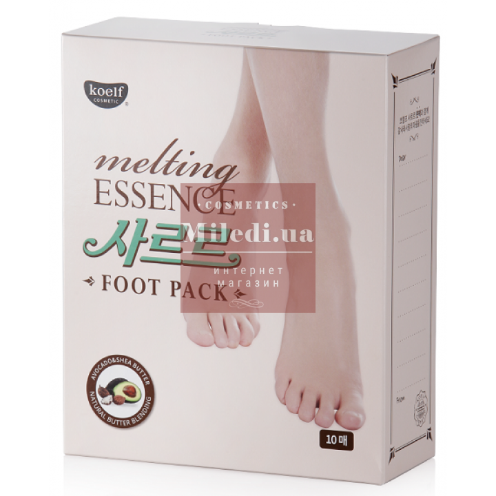 Маска-носочки питательная и смягчающая для загрубевшей кожи стоп - Koelf Melting Essence Foot Pack