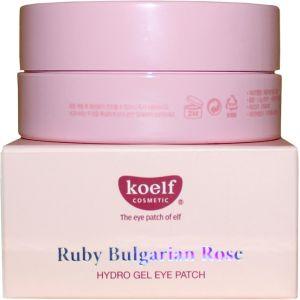 Патчи для глаз с рубиновой пудрой, 60шт - Koelf Ruby & Bulgarian Rose Hydro Gel Eye Patch