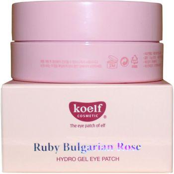 Патчи гидрогелевые для кожи вокруг глаз с рубиновой пудрой и болгарской розой - Koelf Ruby & Bulgarian Rose Hydro Gel Eye Patch