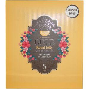 Гидрогелевая маска с золотом и маточным молочком, 5шт - Koelf Gold & Royal Jelly Hydro Gel Mask Pack