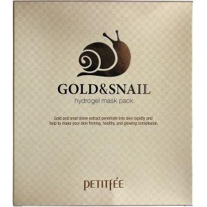 Гидрогелевая маска с золотом и улиткой, 5шт - Petitfee Gold & Snail Hydrogel Mask Pack
