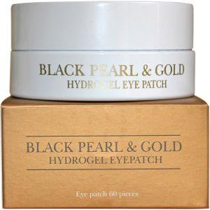 Патчи для глаз с золотом и черным жемчугом, 60шт - Petitfee Black Pearl & Gold Hydrogel Eye Patch
