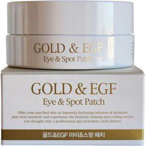 Гидрогелевые патчи с золотом и EGF для глаз и лица (Петитфи) - Petitfee Gold