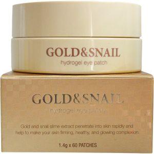 Патчи для глаз с золотом и улиткой, 60шт - Petitfee Gold & Snail Hydrogel Eye Patch