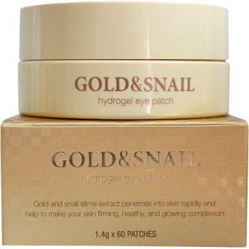 Патчи гидрогелевые для кожи вокруг глаз с муцином улитки и коллоидным золотом - Petitfee Gold & Snail Hydrogel Eye Patch