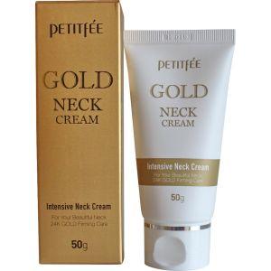 Антивозрастной интенсивный крем для шеи и зоны декольте с золотом - Petitfee Gold Intensive Neck Cream