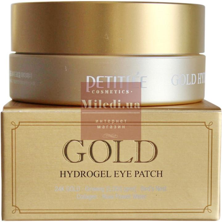 Гидрогелевые патчи вокруг глаз с золотым комплексом - Petitfee Gold Hydro Gel Eye Patch