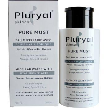 Вода мицеллярная с гиалуроновой кислотой антивозрастной уход Плюриаль - Pluryal Skin Care Pure Must