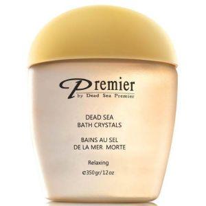 Соль Мертвого моря кристаллическая ароматическая для ванны Золото - Dead Sea Premier Aromatic Bath Crystals Relaxing Gold