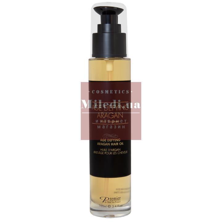 Омолаживающее масло Арганы для волос - Dead Sea Premier Age Defying Aragan Hair Oil, 100мл