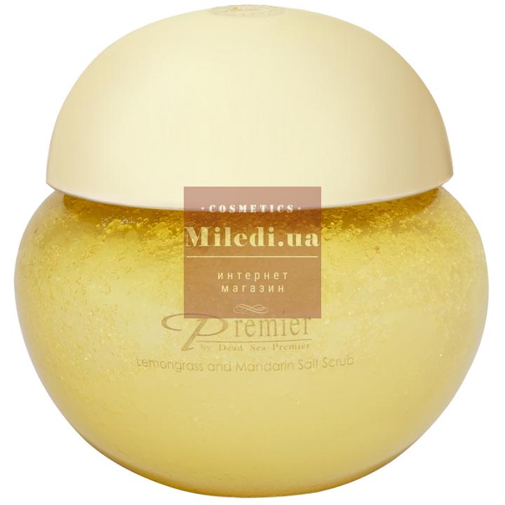 Солевой скраб для тела «Лемонграсс и мандарин» - Dead Sea Premier Lemongrass & Mandarin Salt Scrub, 425гр