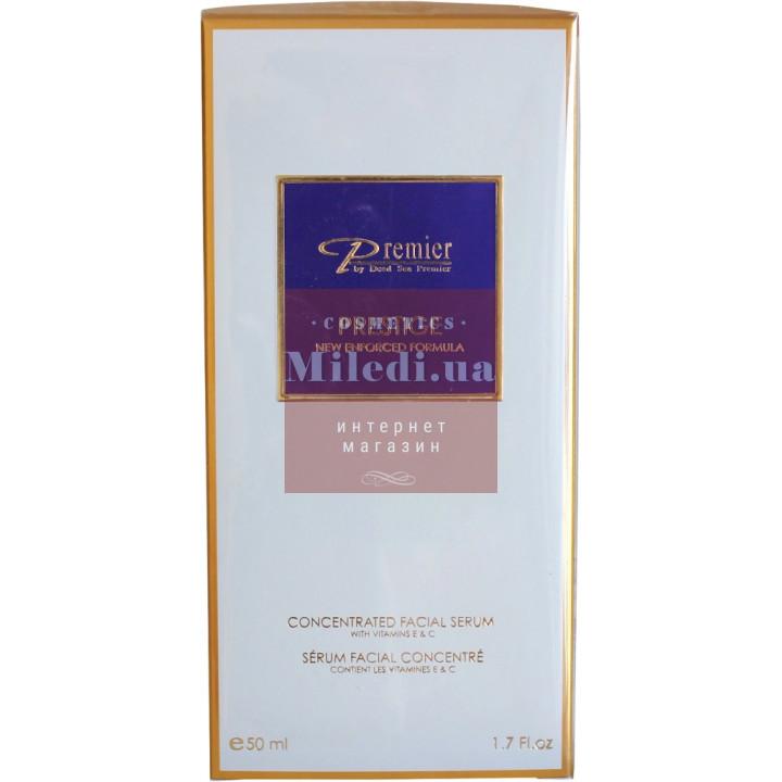 Серум концентрированный с витаминами E, C - Dead Sea Premier Concentrated Facial Serum with Vitamin E & C, 50мл