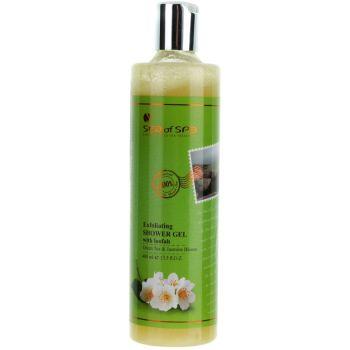 Гель для душа с люфой Зеленый чай и жасмин, 400мл - Sea of Spa Exfoliating Shower Gel loofah Green Tea & Jasmine Bloom