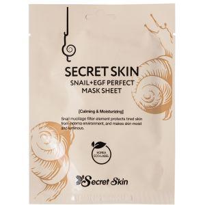 Маска с муцином улитки и EGF фактором, шт - Secret Skin Snail + EGF Perfect Mask Sheet