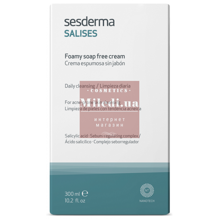 Очищающий пенящийся крем для умывания - Sesderma Laboratories Salises Foamy Soap-Free Cream, 300мл