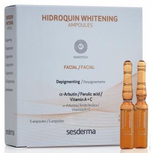 Ампулы с отбеливающей сывороткой, 5х2мл - Sesderma Laboratories Hidroquin Whitening Ampoules