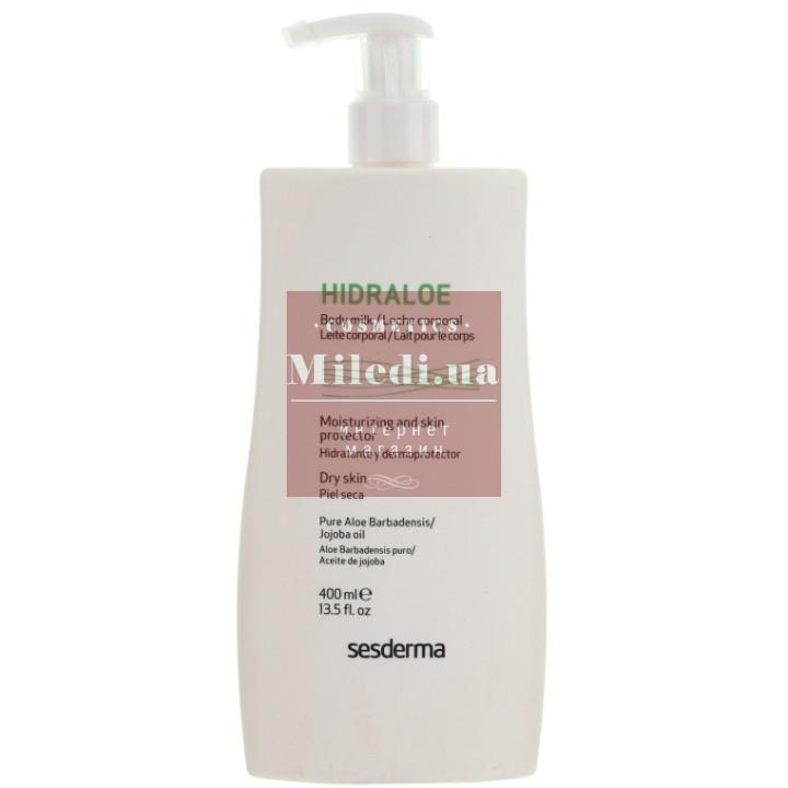 Увлажняющее защитное молочко для тела - Sesderma Laboratories Hidraloe Body Milk Moisturizing, 400мл