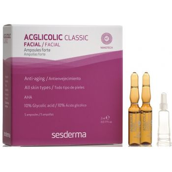 Ампулы с 10% гликолевой кислотой, 5х2мл - Sesderma Laboratories Acglicolic Classic Ampoules Forte