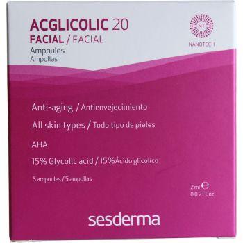 Ампулы с 15% гликолевой кислотой, 5х2мл - Sesderma Laboratories Acglicolic 20 Ampoules