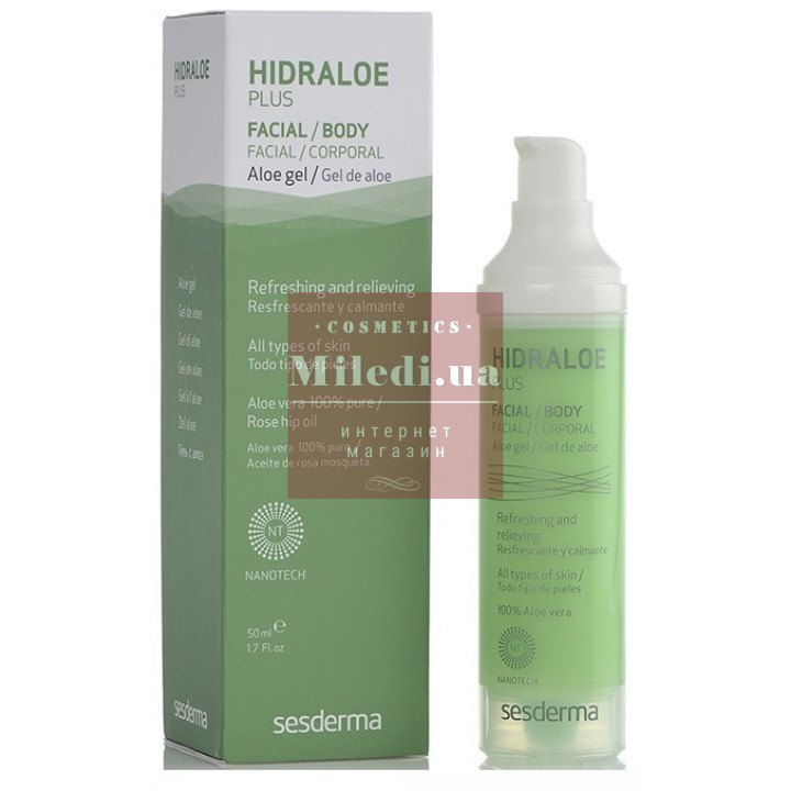 Гель Алоэ плюс увлажняющий для лица и тела - Sesderma Laboratories Hidraloe Plus Facial Body Aloe Gel